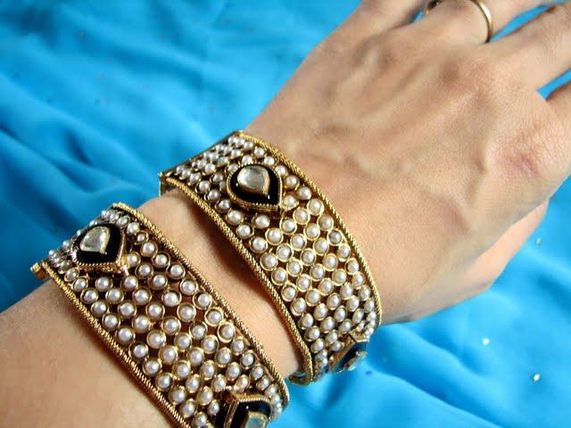 119969xcitefun gold bangels 5 - Kundan beaded bangles