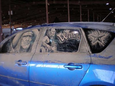 Beautiful Dust Drawing On Car Window Xcitefun Net