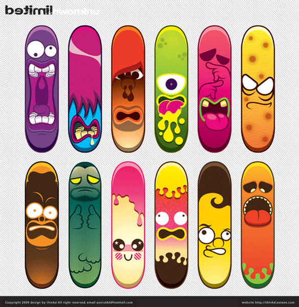 collection of skateboard designs - Skateboard Design Ideas