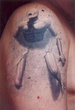 Pretty Scary 3D Tatto