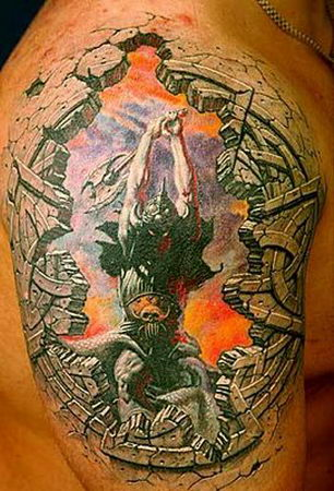 Pretty Scary 3D Tatto