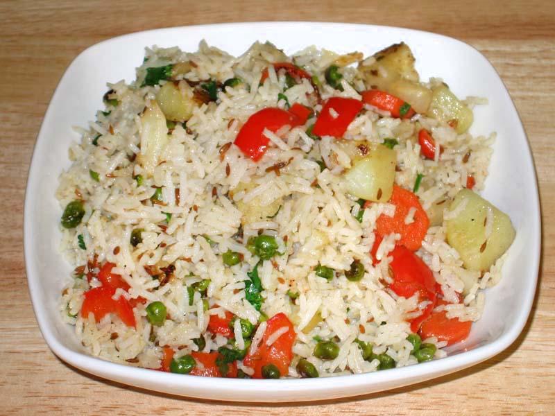 Рис с овощами и мясом в мультиварке рецепт