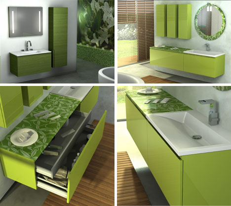 Bathroom design designer ideas 3d color schemes - Green bathroom color ideas ...