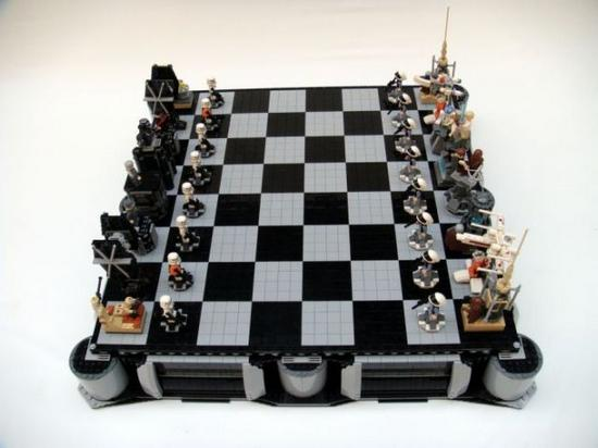 Star Wars Chess Set Made Out Of Lego