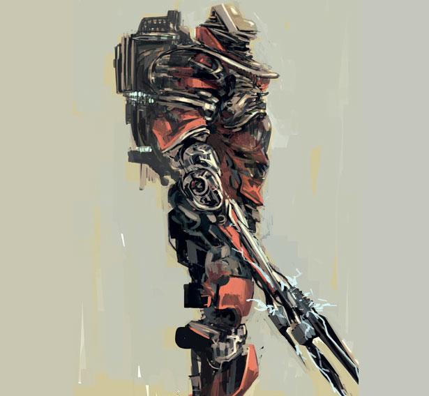 Futuristic Illustrations Of Robot Art Xcitefun Net