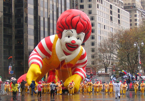 lifting up giant ronald