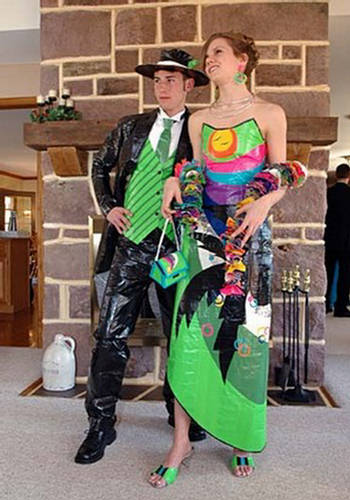 duct tape prom. Duct Tape Prom Dress: Stuck at
