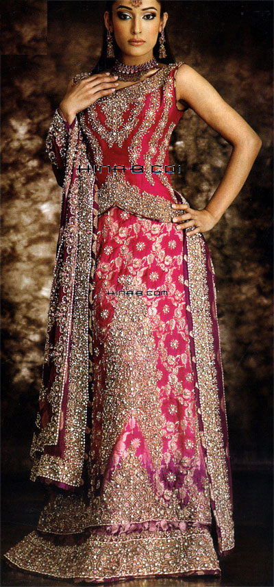 The Gallery For Gt Indian Wedding Pink Dresses For Bride