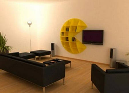 Save Your Tv Pac Man Bookcase