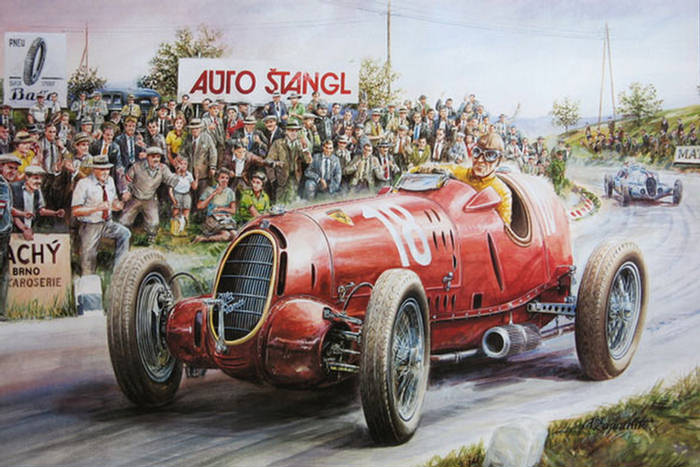 Old Race Car Paintings