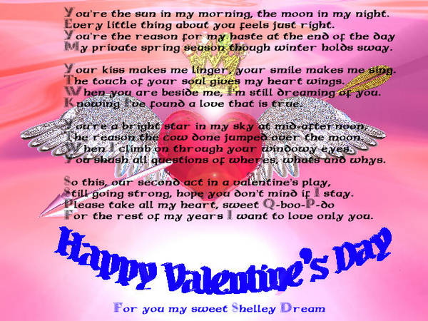 Valentines Day Poems Poetry