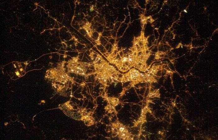 Cities From Space  Night View