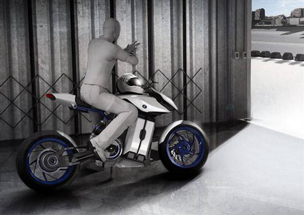 bmw bike with fuel cell new concept. Black Bedroom Furniture Sets. Home Design Ideas