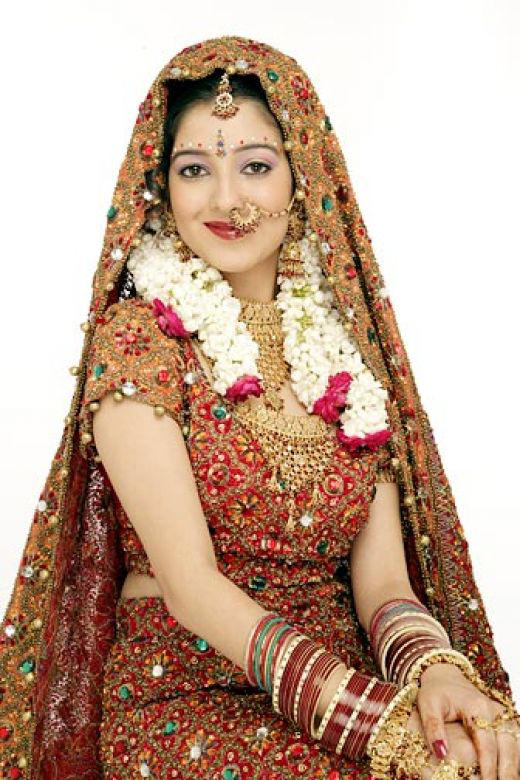 Bridal In Typical Indian Traditional Dress Xcitefun Net