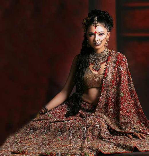 Bridal In Typical Indian Traditional Dress