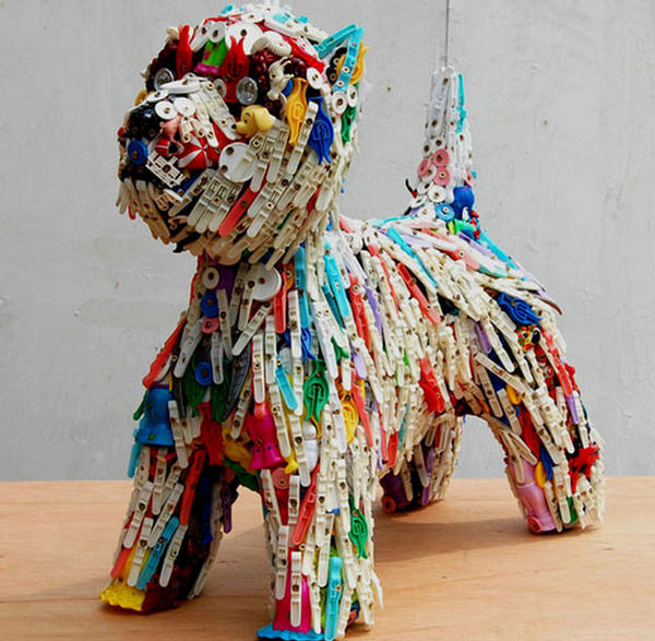 Plastic recycled art for Art from waste ideas