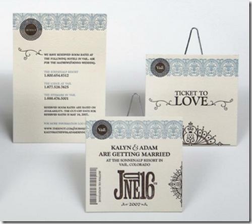 Ticket To Love Funny Wedding Invitations
