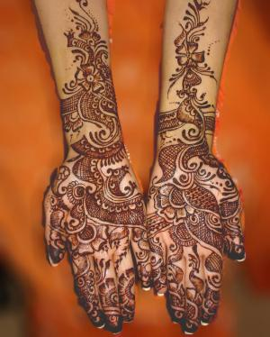 Mahndi Design For Bridals