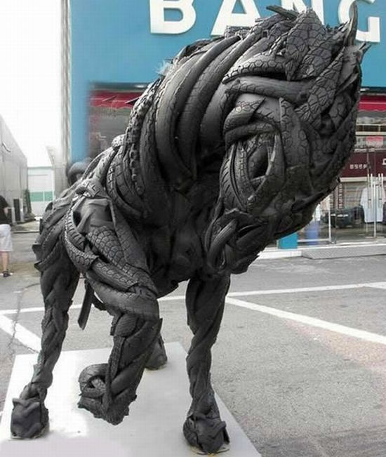 amazing recycled art