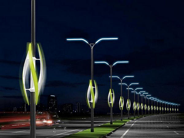 Street lights futuristic environment for Outdoor lighting concepts