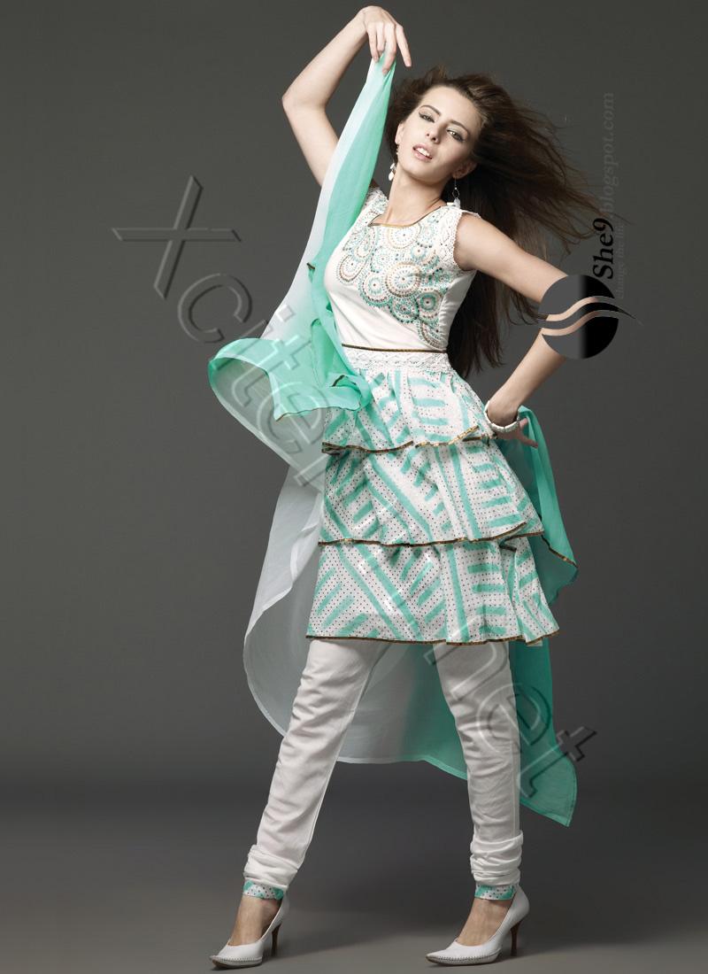 Churidar pajama farak for Dress dizain photo