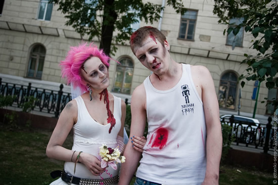 Zombie wedding in russia on this day