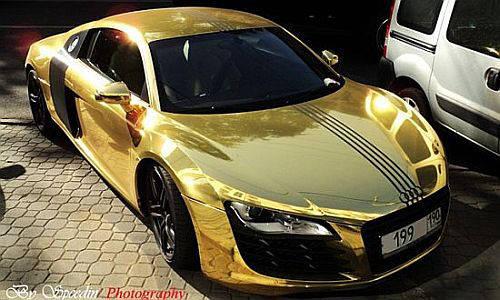 Audi R8 Gold Wrapped Make You Elegant Xcitefunnet