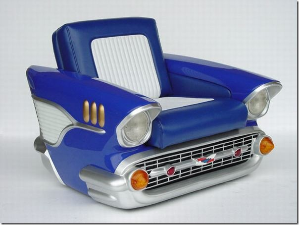 Custom made retro car furniture Custom furniture made car parts