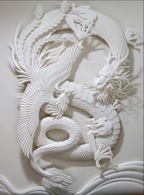 D paper sculpture art xcitefun