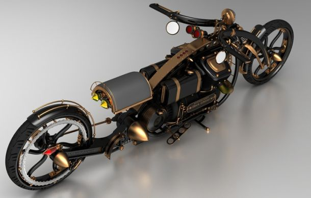 Steampunk Chopper Extreme Custom Motorcycle Xcitefun Net