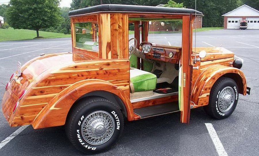 beautiful custom built 2009 wooden car. Black Bedroom Furniture Sets. Home Design Ideas