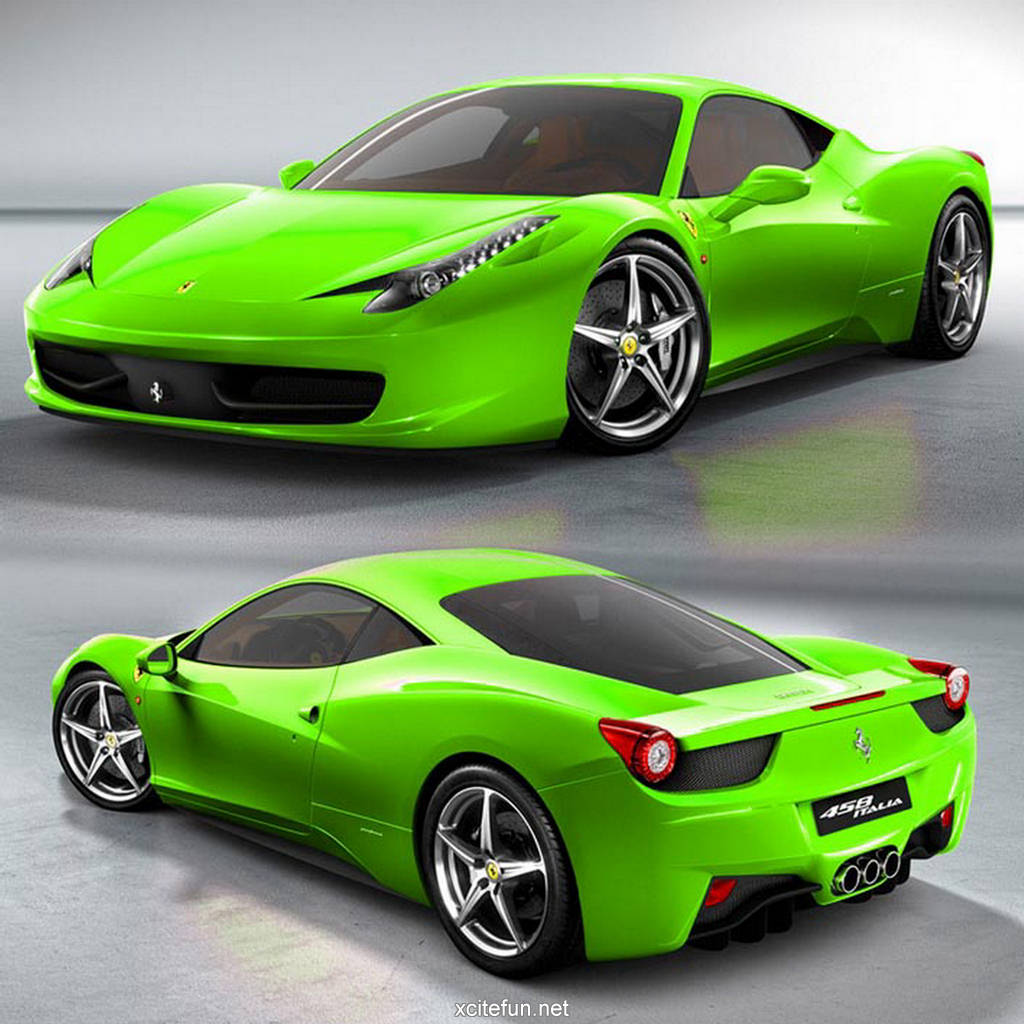 wallpaper green ferrari cars - photo #12