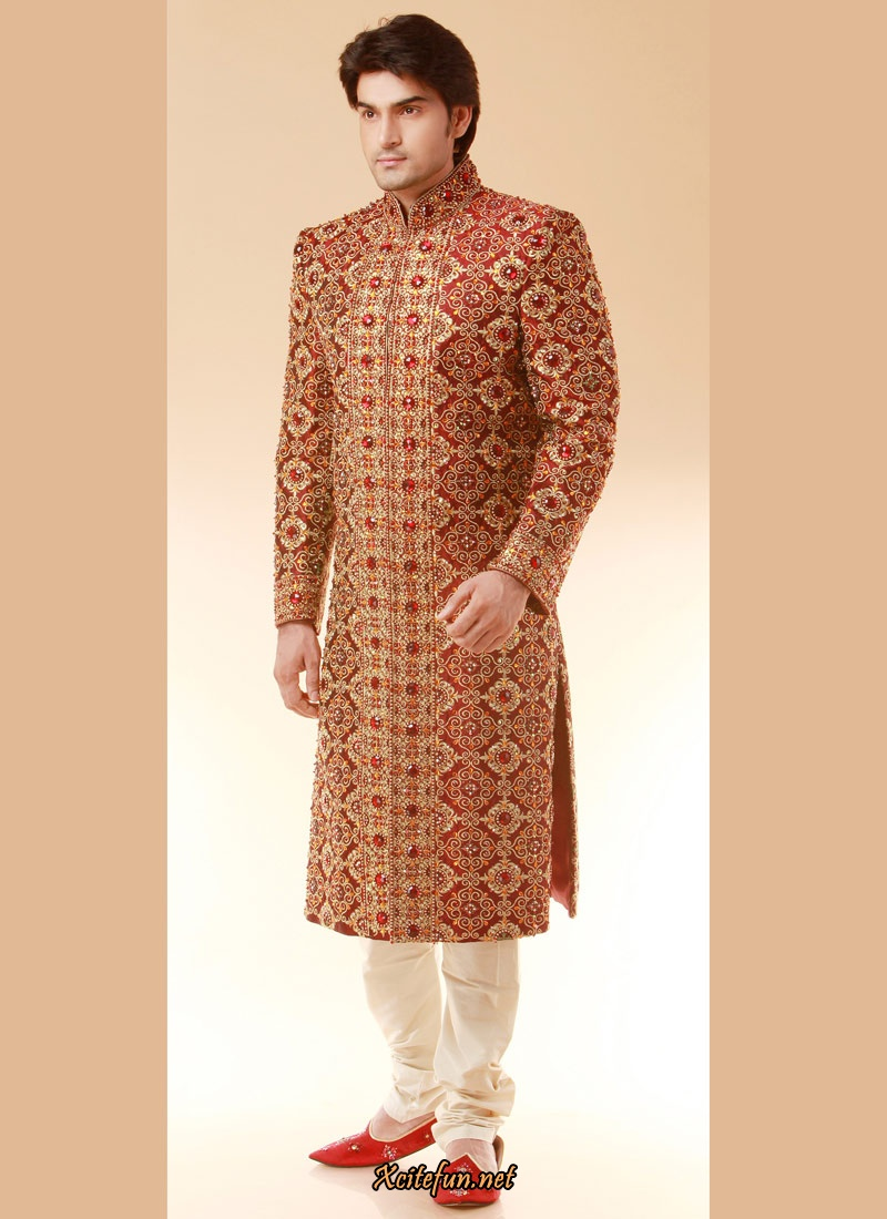 Indian Wedding Suit For Groom - Wedding Guest Dresses