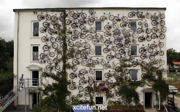 Bicycles On The Wall