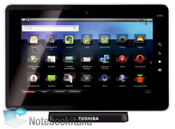 Toshiba Tablet pc Toshiba Folio 100 Tablet pc