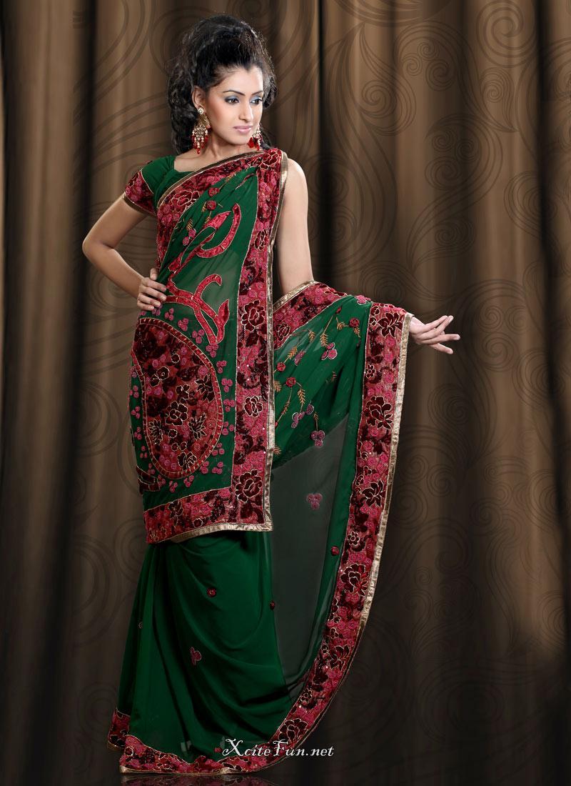 how to wear saree in bharatanatyam style