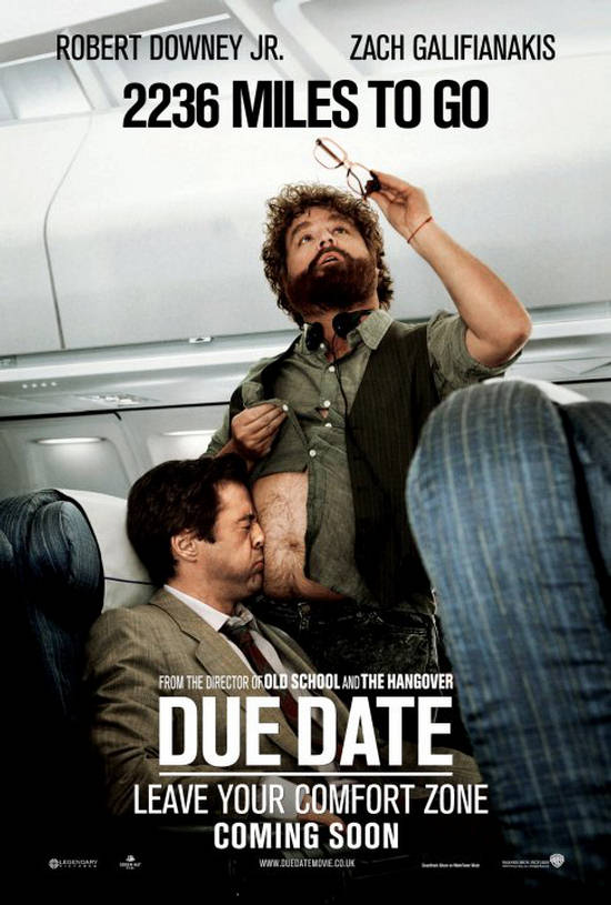 Due Date Movie Posters And Trailer Colored With Comedy