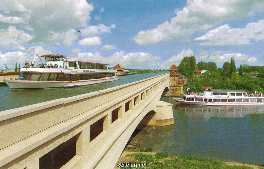 Magdeburg Germany  City new picture : Magdeburg Water Bridge Germany Amazing Water Bridge : Art, Design