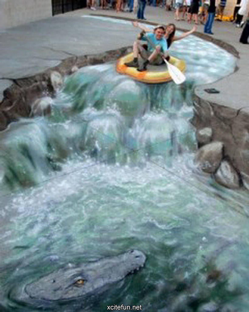 Amazing 3D Sidewalk Art Photos XciteFunnet