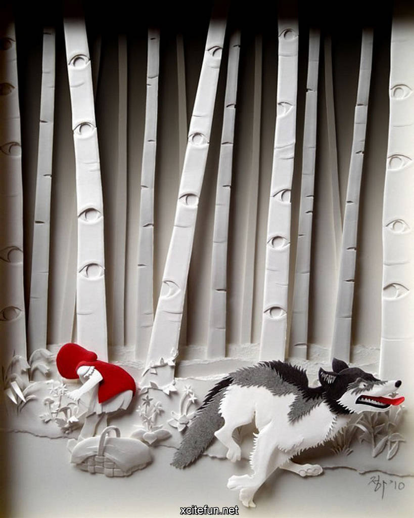 Beautiful amazing paper art for Beautiful paper cutting art