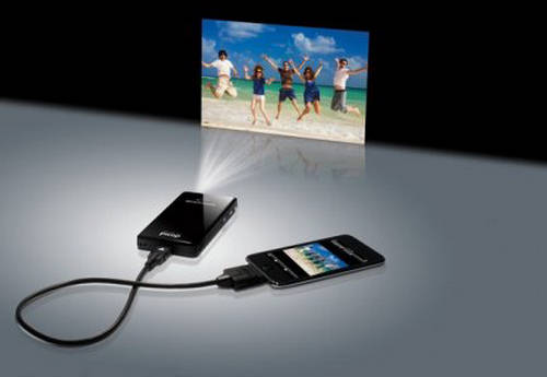 Microvision showwx the picop projector for mobile for Iphone movie projector