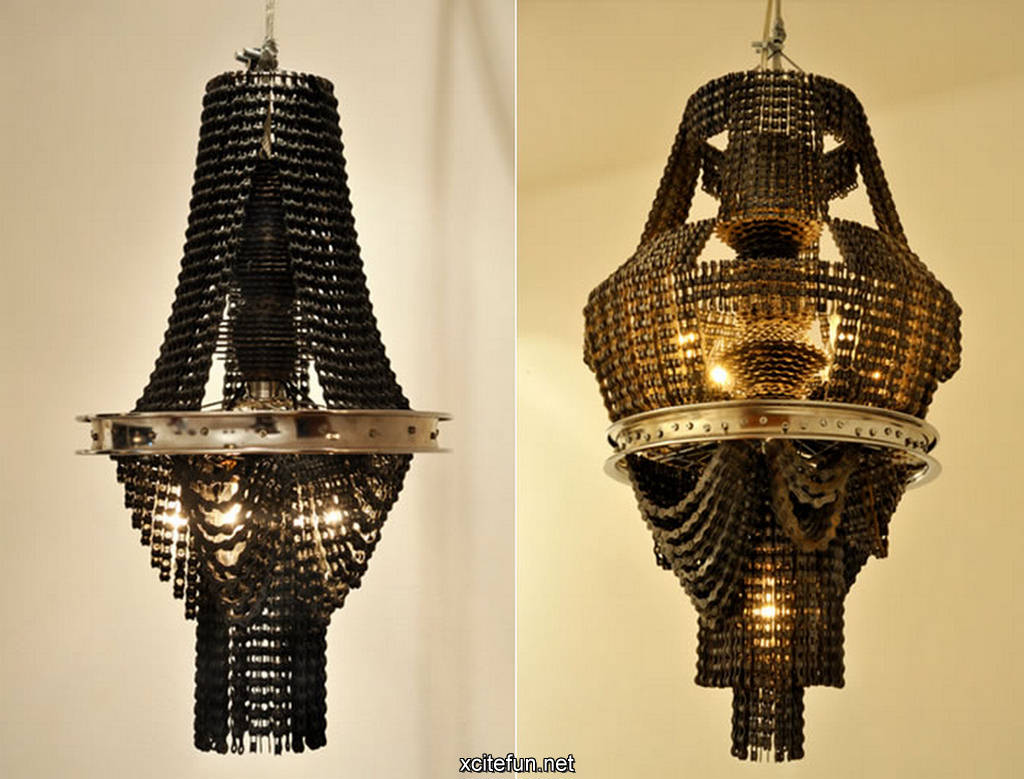 Beautiful Victorian Chandeliers Made from Bike Parts - XciteFun.net