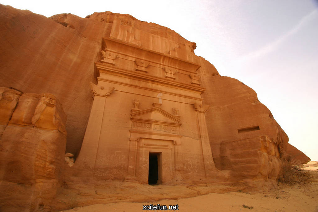 the ruins of madain saleh - saudi arabia