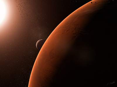 Interesting Facts About Mars SKY PLANET 1) Position in the solar system: 4th