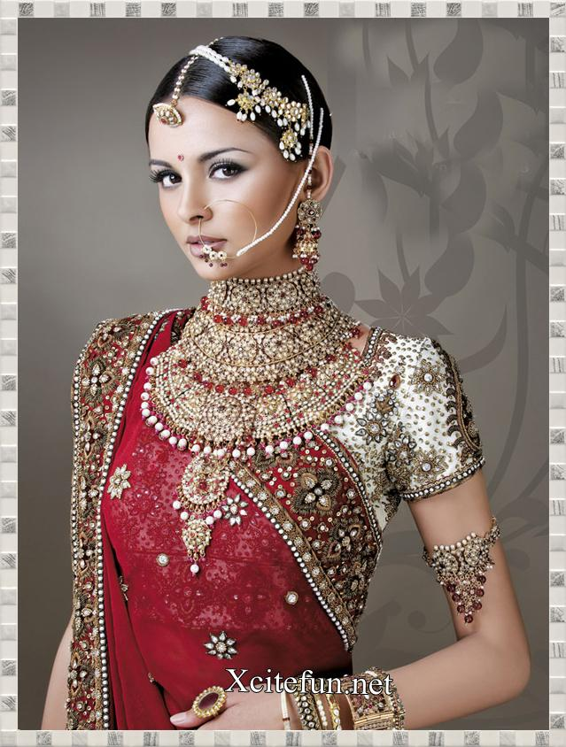 Indian Bridal Jewelry and Makeup Fashion