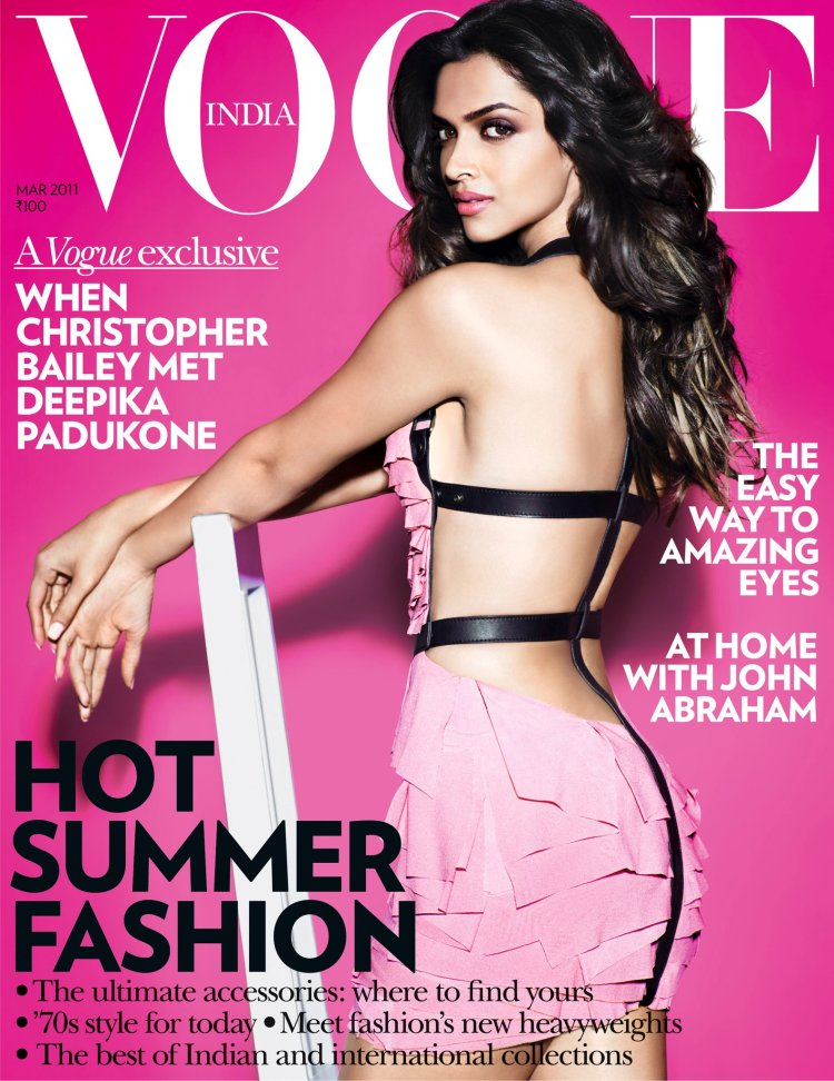 Deepika Padukone Pretty In Pink  Vogue Cover