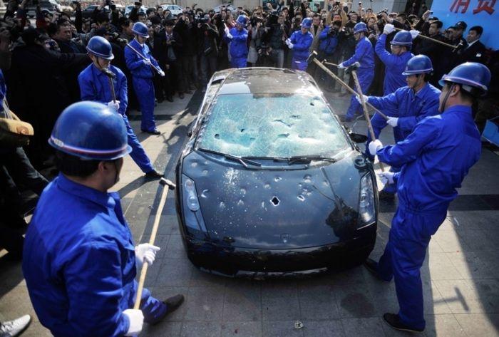 Lamborghini Destroying Photos Xcitefun Net