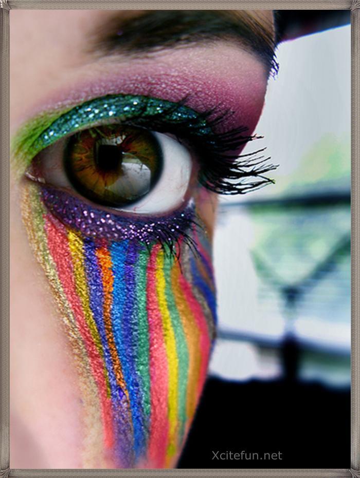 Rain Bow Eye Makeup Crazy Touch Xcitefun Net
