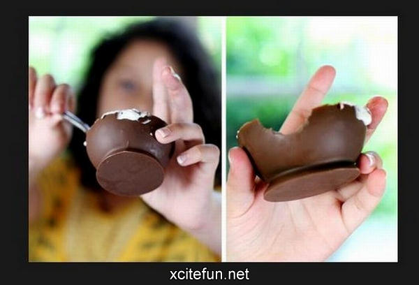Creative Chocolate Cups For Ice Cream
