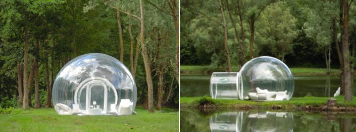 transparent bubble rooms - amazing rooms - xcitefun